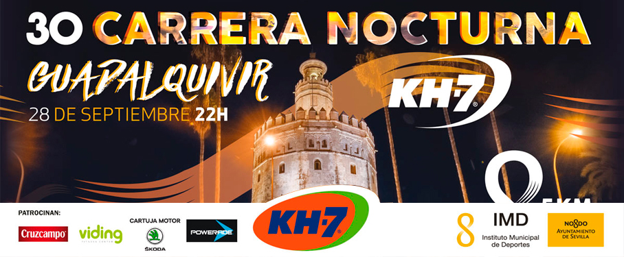 Nocturna del Guadalquivir, la carrera más popular de Sevilla